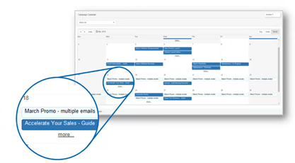 Act! Marketing Automation Campaign Calendar