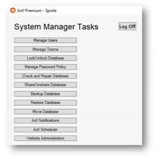Act! System Manager User