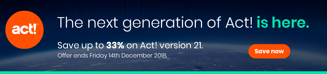 Save 33% on the next generation of Act! CRM